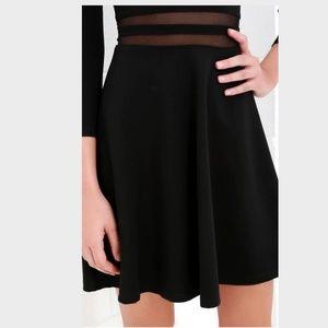 512764900ce5 Lulu s Dresses - LULU S YES TO THE MESH BLACK SKATER DRESS